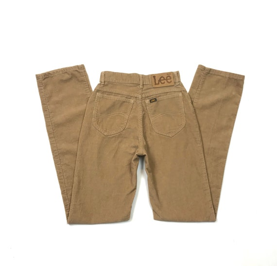 Vintage Lee W26 L33 Corduroy Riders Pants 70's 80'