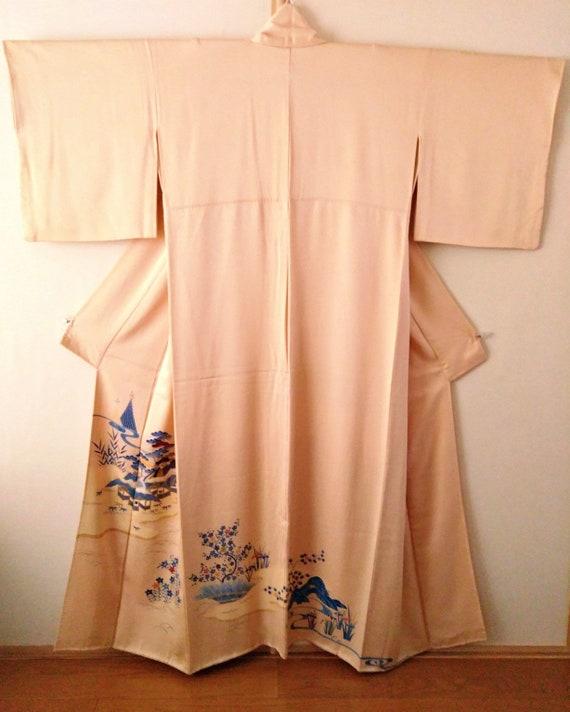 Vintage kimono Japanese silk kimono IRO TOMESODE k