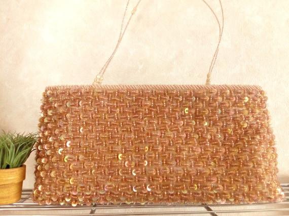 Vintage sequin bag Japanese clutch sequin purse ki