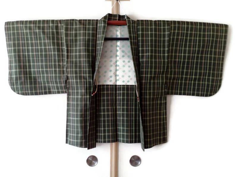dfc99ec8cf8aeb Kimono Jacke japanischen Haori für Männer Frauen Tsumugi Seide | Etsy