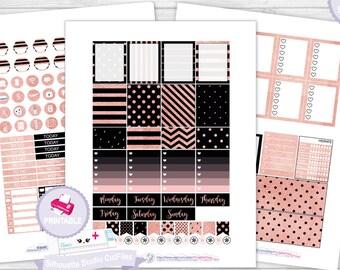 Rose Gold planner sticker kit planner kit erin condren planner stickers printable stickers planner sticker weekly kit stickers planner kit