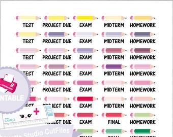 School planner stickers college stickers school stickers study stickers happy planner stickers planner erin condren planner stickers planner