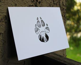 Wolf Paw Ink Print