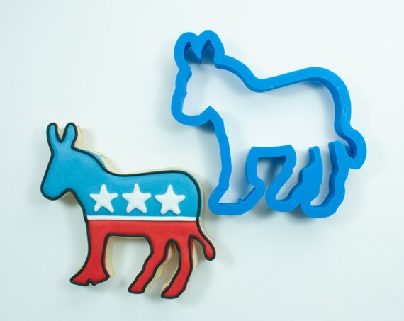 Democrat Donkey Cookie Cutter | Custom Cookie Cutter | Unique Cookie Cutters | Mini Cookie Cutters