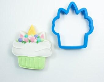 Unicorn Cupcake Cookie Cutter
