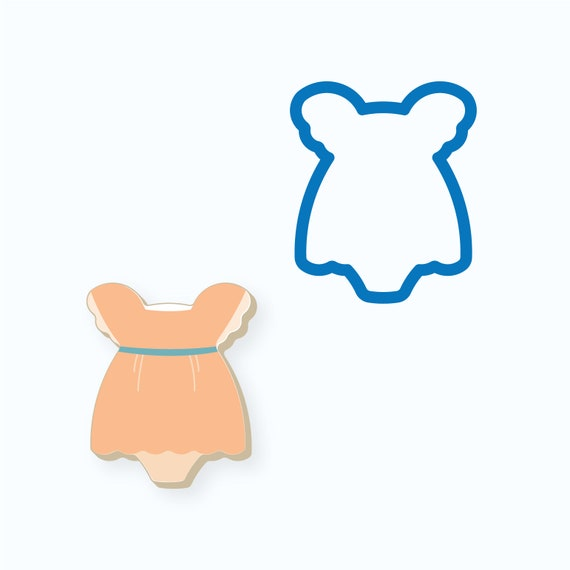 Baby Girl Dress Cookie Cutter | Dress with Bloomers Cookie Cutter | Baby Shower Cookie Cutter | Girl Dress Cookie Cutter | FrostedCo