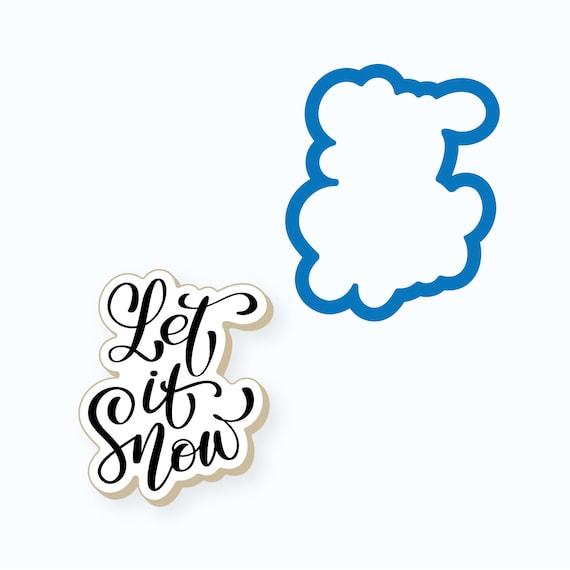 Christmas Cookie Cutter | Let it Snow Plaque Cookie Cutter | Christmas Plaque Cookie Cutter | Winter Cookie Cutter | Let it Snow | FrostedCo