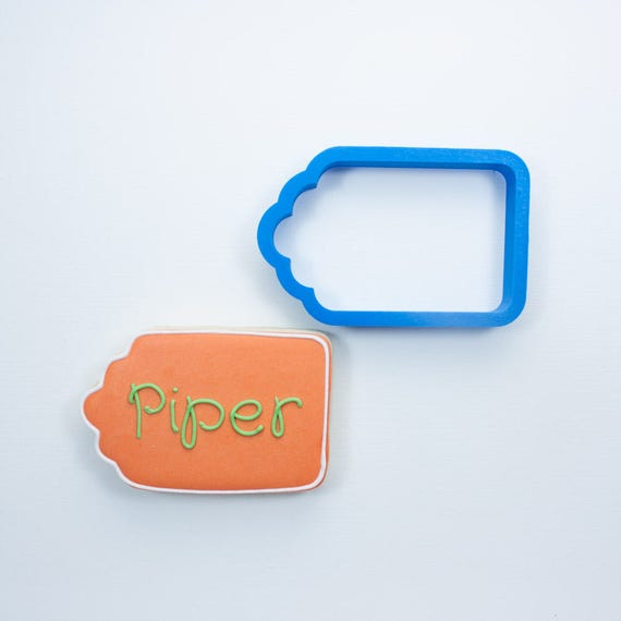 The Piper Plaque Cookie Cutter