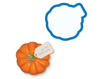Pumpkin Cookie Cutter   Pumpkin with Tag   Fall Cookie Cutter   Thanksgiving Cookie Cutter   Pumpkin with Name Tag