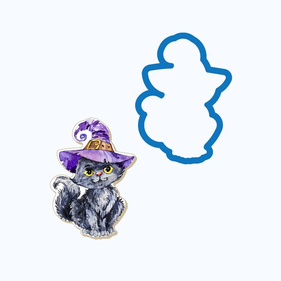 Kitty Witch Cookie Cutter
