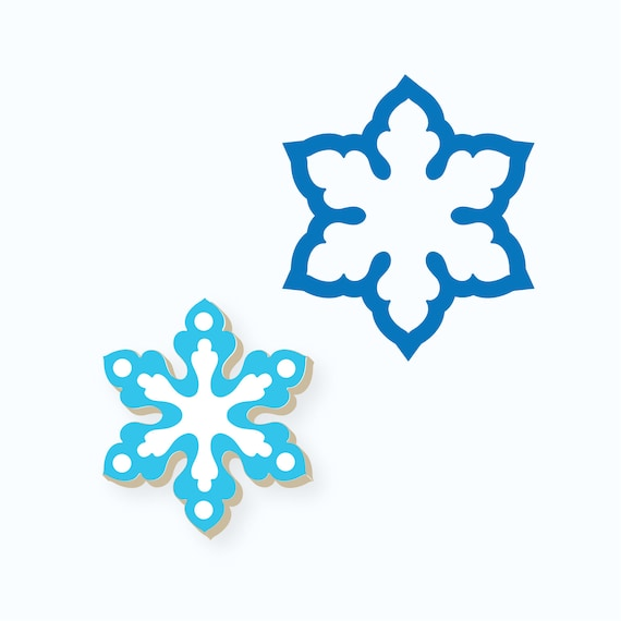 Snowflake Cookie Cutter | Feather Snowflake Cookie Cutter | Winter Cookie Cutter | Christmas Cookie Cutter | FrostedCo