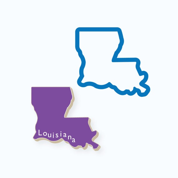 Louisiana Cookie Cutter | State Cookie Cutters | State Shaped Cookie Cutters | USA Cookie Cutters | 3D Cookie Cutters | FrostedCo