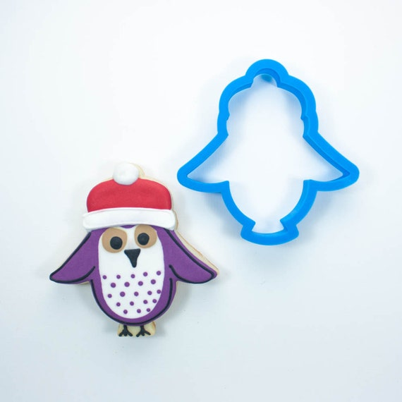 Owl with Santa Hat Cookie Cutter