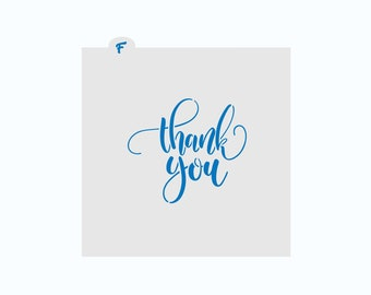 Thank You Stencil | Thank You Cookie Stencil | Cookie Stencil | Thanks Cookie Stencil | FrostedCo