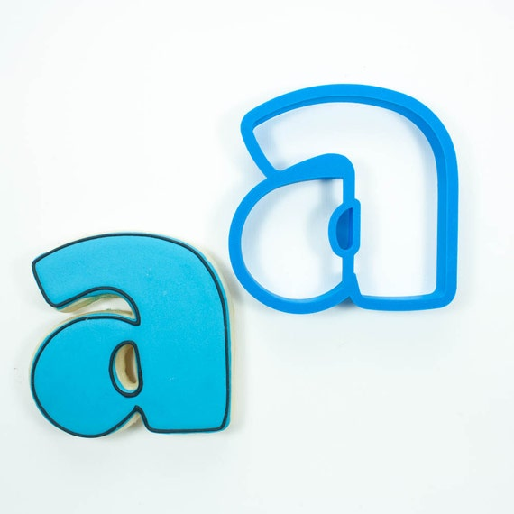 Letter A Cookie Cutter | Alphabet Cookie Cutters | Letter Cookie Cutters | ABC Cookie Cutters | Large Alphabet Cookie Cutters