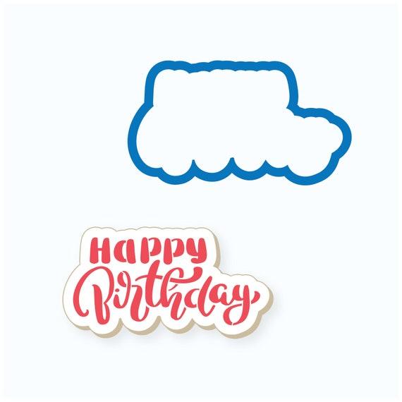 Birthday Cookie Cutter | Happy Birthday Cookie Cutter | Plaque Cookie Cutter | Happy Birthday Plaque Cookie Cutter