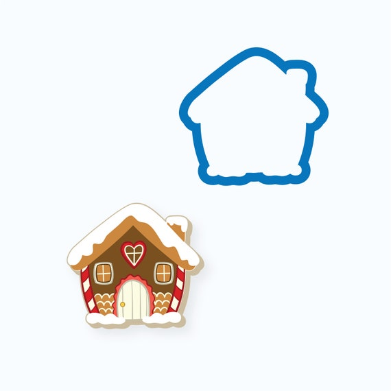 Chubby Gingerbread House Cookie Cutter