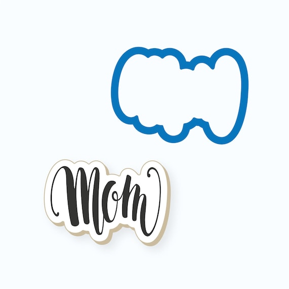Mom Plaque Cookie Cutter | Mother's Day Cookie Cutter | Plaque Cookies | Mother Cookies | Mom Cookies | Frosted