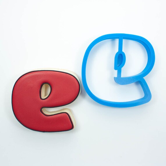 Letter E Cookie Cutter | Alphabet Cookie Cutters | Letter Cookie Cutters | ABC Cookie Cutters | Large Alphabet Cookie Cutters