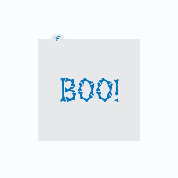 Halloween Stencil | Boo! Plaque Cookie Stencil | Cookie Stencil | Halloween Cookie Stencil | Boo Stencil | FrostedCo