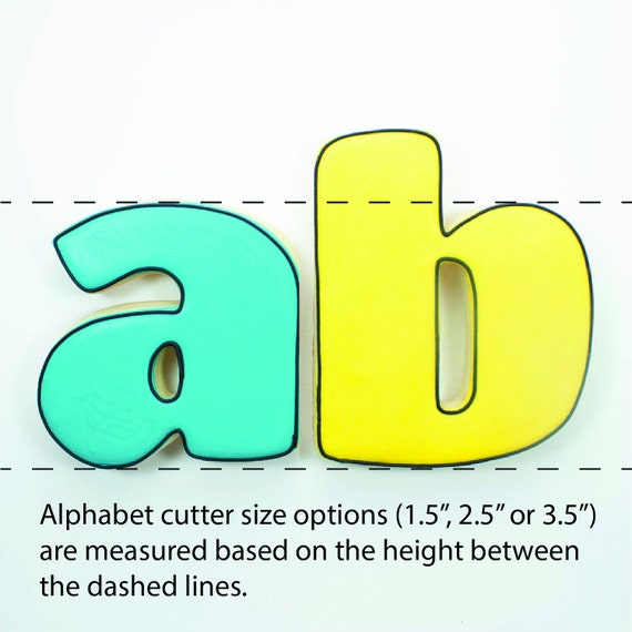Alphabet Cookie Cutter Set | Alphabet Cookie Cutters | Letter Cookie Cutters | ABC Cookie Cutters | Large Alphabet Cookie Cutters