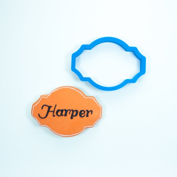 The Harper Plaque Cookie Cutter | Plaque Cookie Cutters | 3D Cookie Cutters | Unique Cookie Cutters