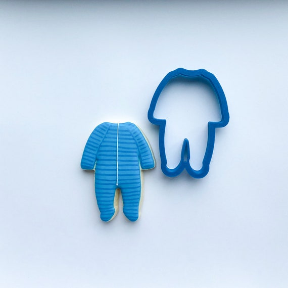 Baby Footie Pajamas Cookie Cutter | Baby Shower Cookie Cutters | Baby Cookie Cutters | Cookie Cutter Set | Unique Cookie Cutters | Frosted