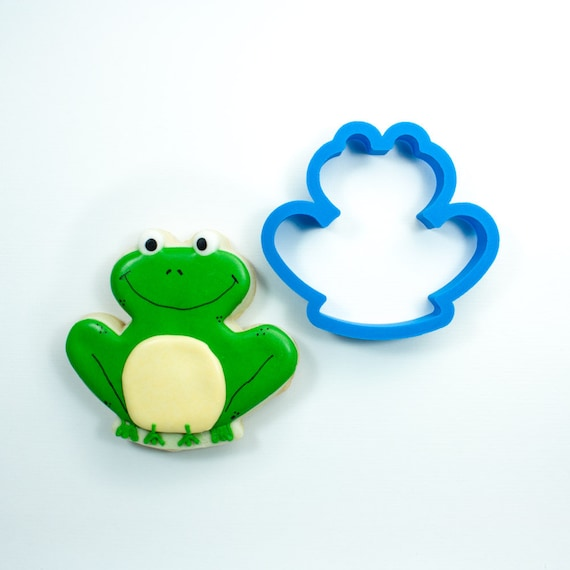 Frog Cookie Cutter | Frog Fondant Cutter | Custom Cookie Cutters | Unique Cookie Cutter | 3D Cookie Cutters | Mini Cutters