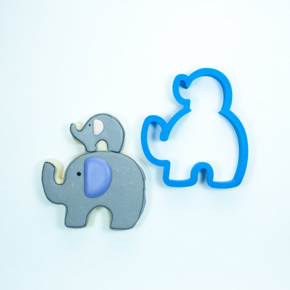 Stacked Elephant Cookie Cutter | Baby Shower Cookie Cutters | Animal Cookie Cutters | Unique Cookie Cutters | Elephant Cookie Cutter