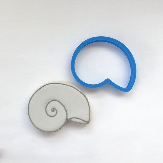 Nautilus Shell Cookie Cutter | Seashell Cookie Cutter | Shell Cookie Cutter | Beach Cookie Cutters | Ocean Cookie Cutter