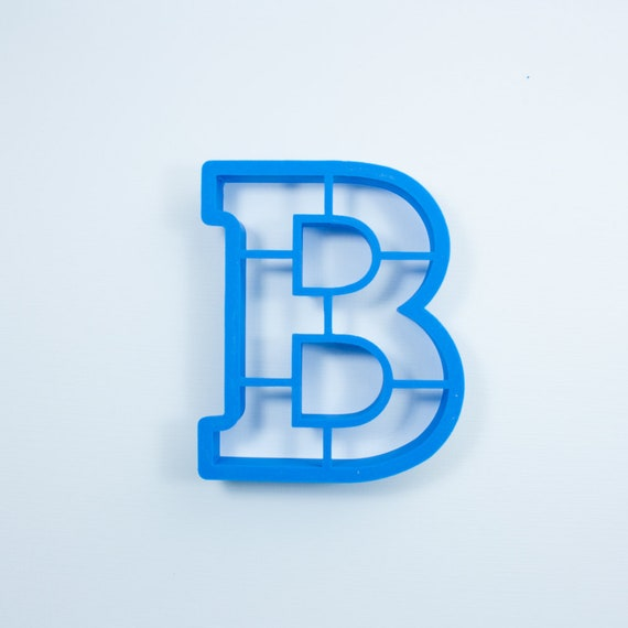 Block Letter B Cookie Cutter | Alphabet Cookie Cutters | Letter Cookie Cutters | ABC Cookie Cutters | Block Letters Alphabet Cookie Cutters