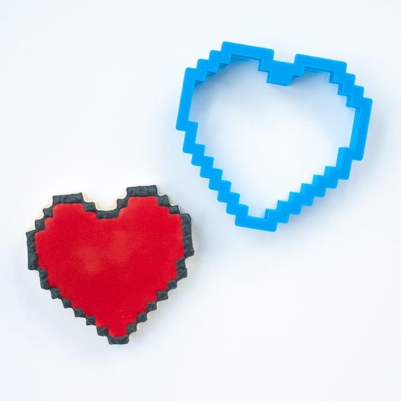 Pixels Heart Cookie Cutter | 8-bit Heart Cookie Cutter | Heart Shaped Cookie Cutter | Heart Cookie Cutters | Unique Cookie Cutters