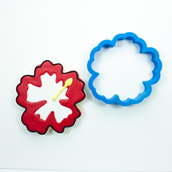 Hibiscus Cookie Cutter | Hibiscus Flower Cookie Cutter | Flower Cookie Cutter | Easter Cookie Cutter | Spring Cookie Cutters