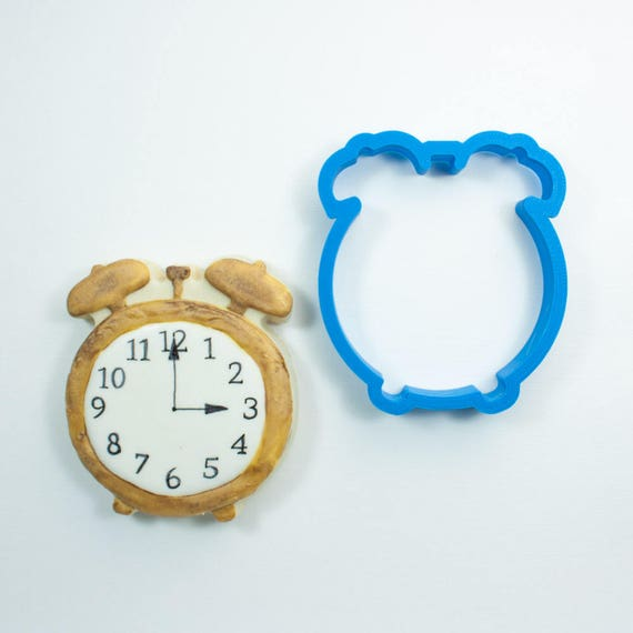 Alarm Clock Cookie Cutter | Clock Cookie Cutter | Mini Clock Cutter | Unique Cookie Cutter | 3D Cookie Cutter | Frosted Cutter | FrostedCo