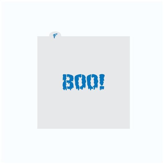 Halloween Stencil | BOO Cookie Stencil