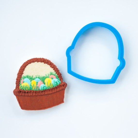 Easter Basket Cookie Cutter - Flower Basket Cookie Cutter - Fondant Cutter