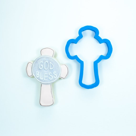 Cross with Plaque Cookie Cutter