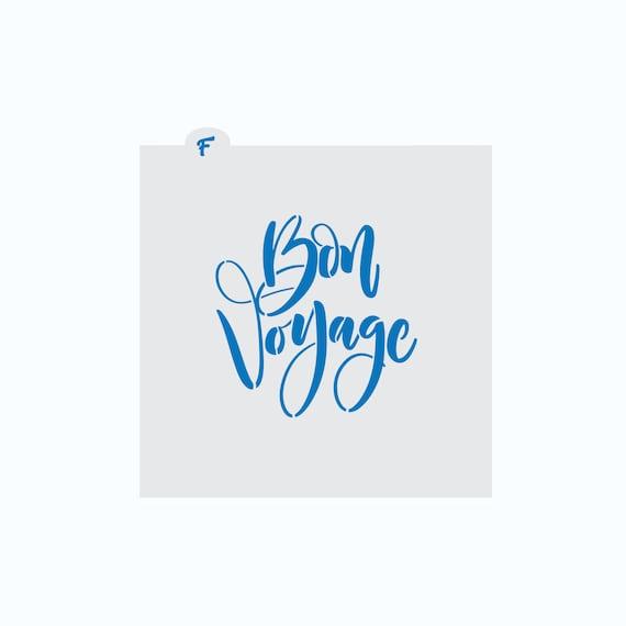 Bon Voyage Stencil | Bon Voyage Cookie Stencil | Cookie Stencil | Travel Cookie Stencil | Vacation Cookie Stencil | FrostedCo