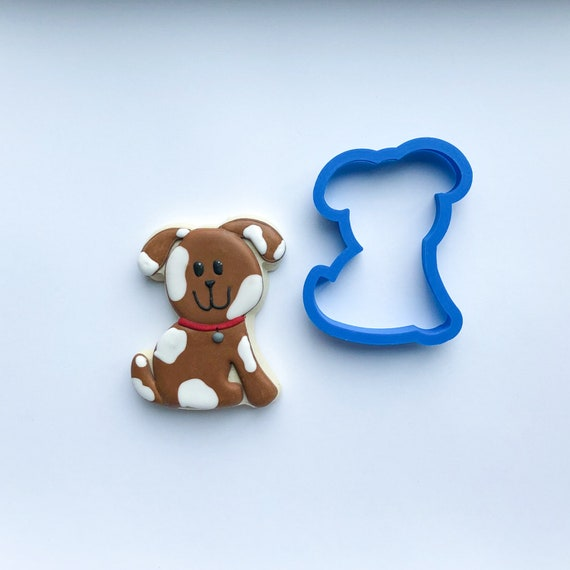 Tilted Head Puppy Cookie Cutter | Puppy Fondant Cutter | Custom Cookie Cutters | Unique Cookie Cutter | 3D Cookie Cutters | Mini Cutters