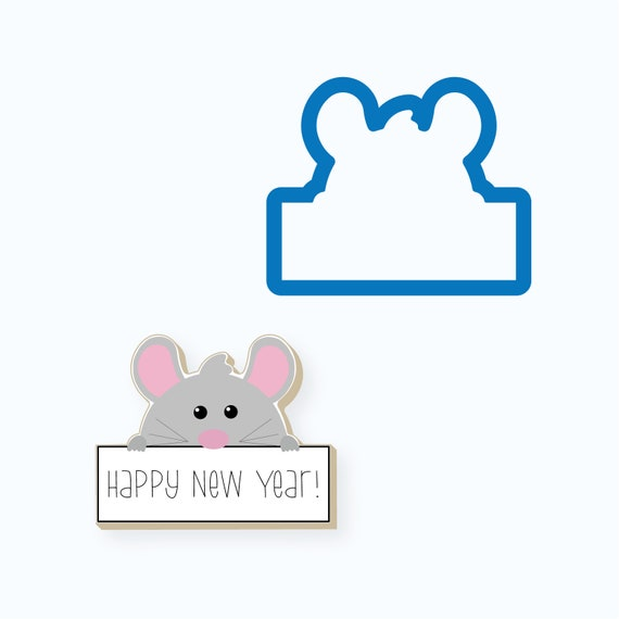 Rat with Plaque Cookie Cutter
