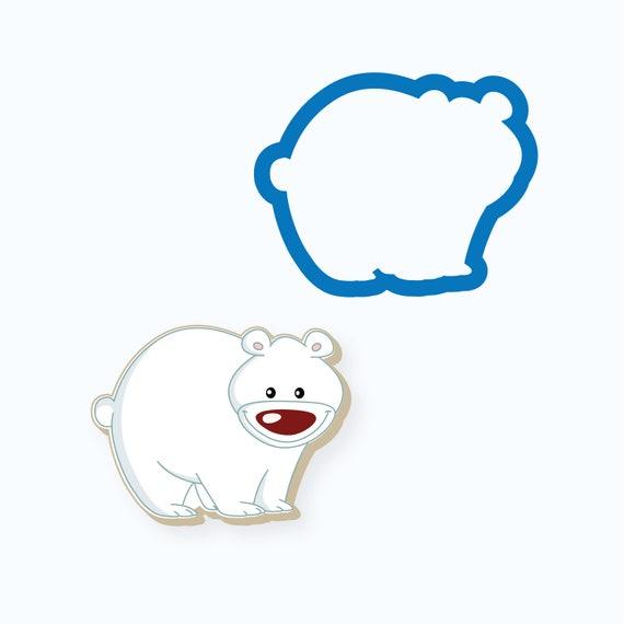Big Nose Polar Bear Cookie Cutter