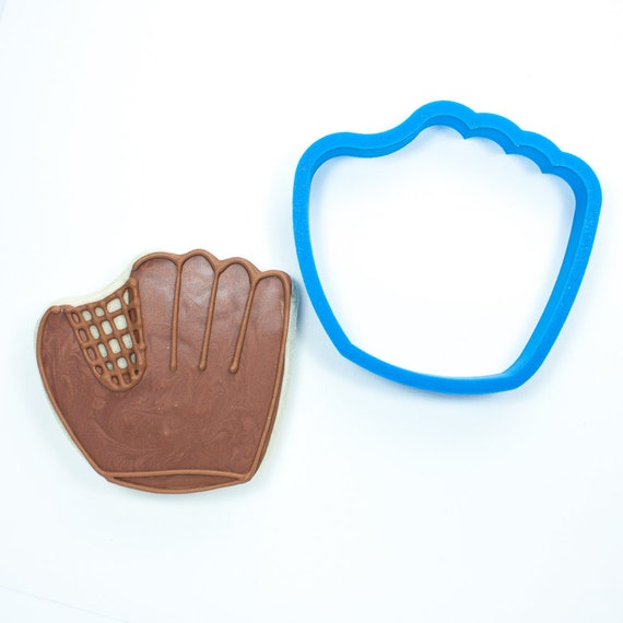 Baseball Set - Baseball Glove, Baseball Hat, Baseball Bat, Baseball Home Plate, and Circle (Ball) Cookie Cutters