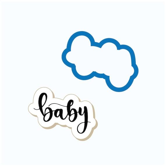 Baby Cookie Cutter | Baby Shower Cookie Cutter | Baby Plaque | Plaque Cookie Cutter | Baby word