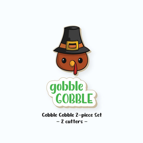 Thanksgiving Cookie Cutters | Gobble Gobble Cookie Cutter | Gobble Gobble Cookie Cutter Set | Turkey Cookie Cutter | FrostedCo