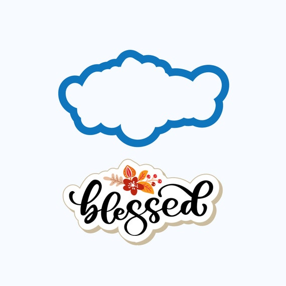 Blessed Plaque Cookie Cutter | Thanksgiving Cookie Cutter | Plaque Cutter |  Thanksgiving Cookies | Thankful Cookies | Frosted