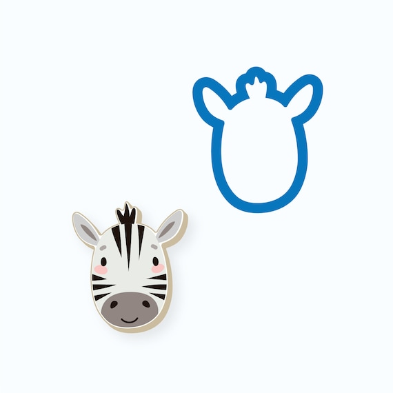 Zebra Cookie Cutter | Animal Cookie Cutter | Baby Shower Cookie Cutter | Birthday Cookie Cutter | Kids Cookie Cutters | FrostedCo