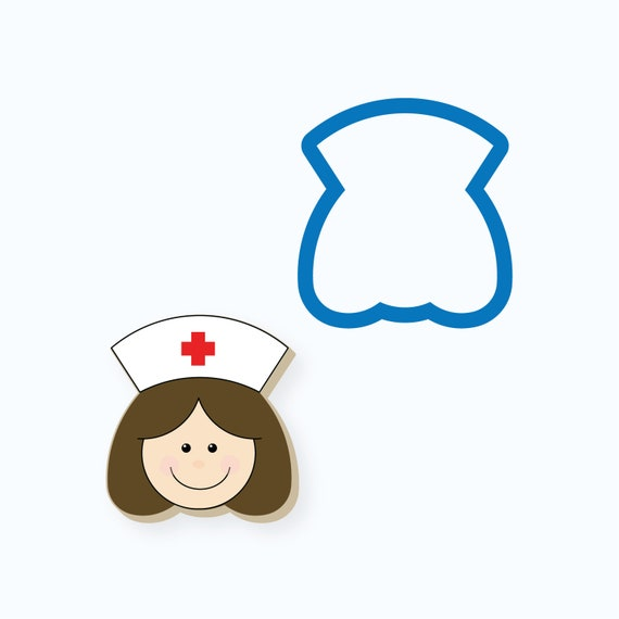 Nurse Cookie Cutter | Nurse Head Cookie Cutter | Medical Cookie Cutter | Doctor Cookie Cutter | Mini Cookie Cutter | FrostedCo