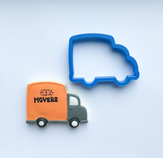 Chubby Moving Truck Cookie Cutter | Truck Cookies | Birthday Cookie Cutters | Unique Cookie Cutters | 3D Cookie Cutters