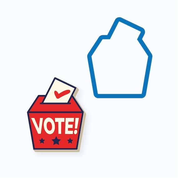 Ballot Box Cookie Cutter | Ballot Cookie Cutter | Vote | 2020 Election | Election Cookie Cutter | Republican | Democrat | FrostedCo