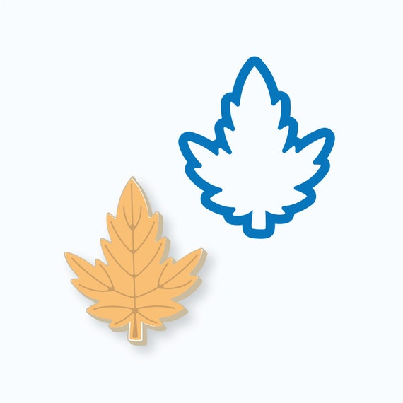 Pointed Leaf Cookie Cutter | Leaf Cookie Cutter | Fall Cookies | Maple Leaf Cookies | Autumn Cookies | Thanksgiving Cookie Cutter | Frosted